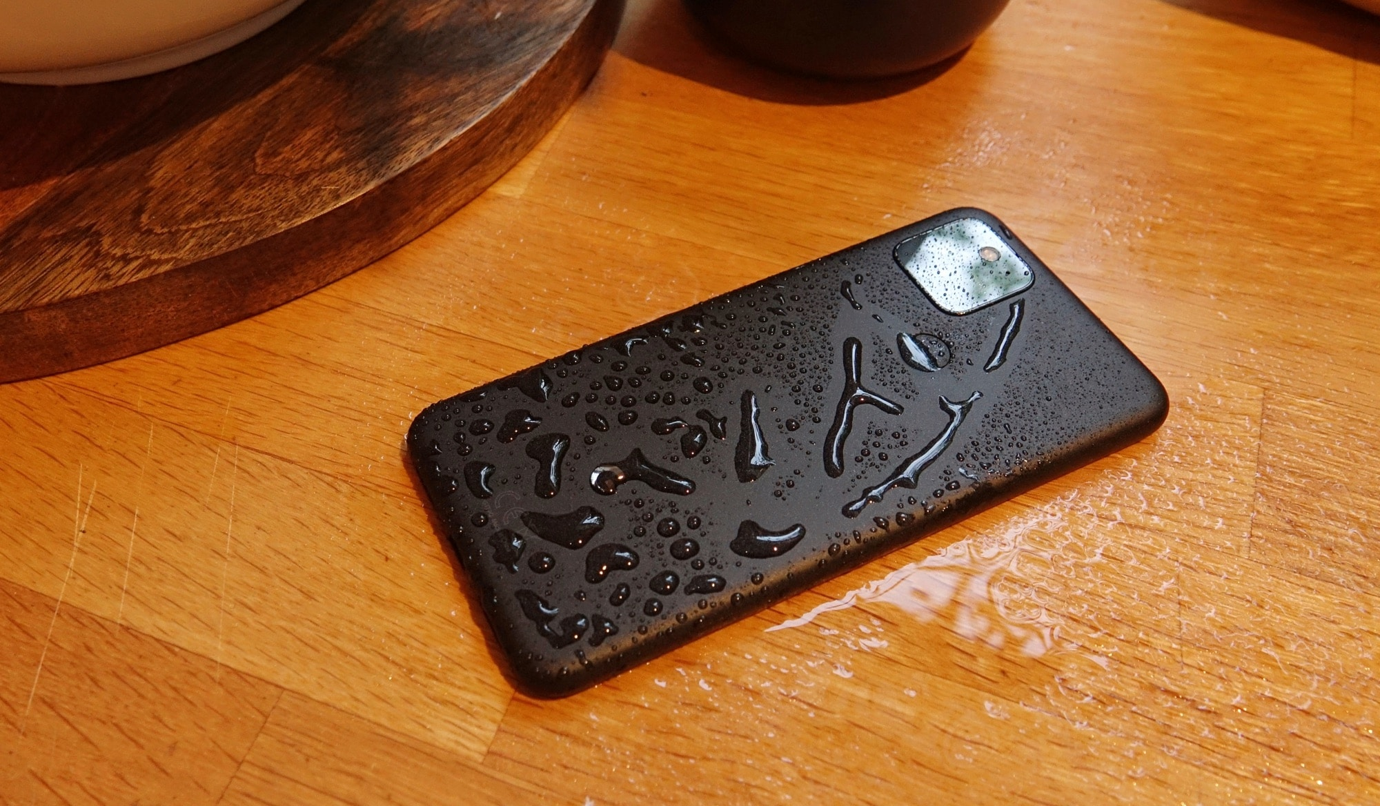 The Google Pixel 5 is water resistant