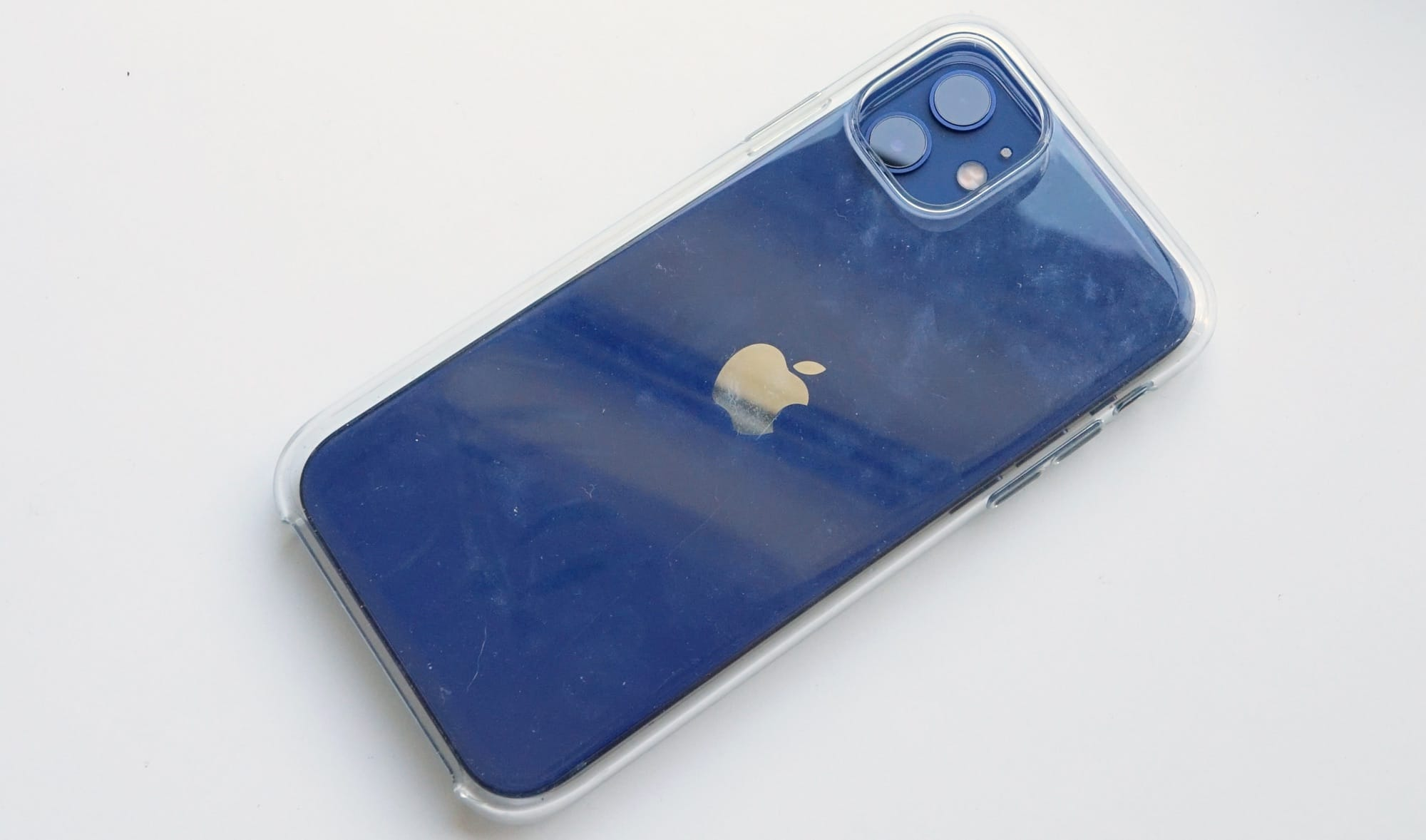 The iPhone 12 in an iPhone 11 case
