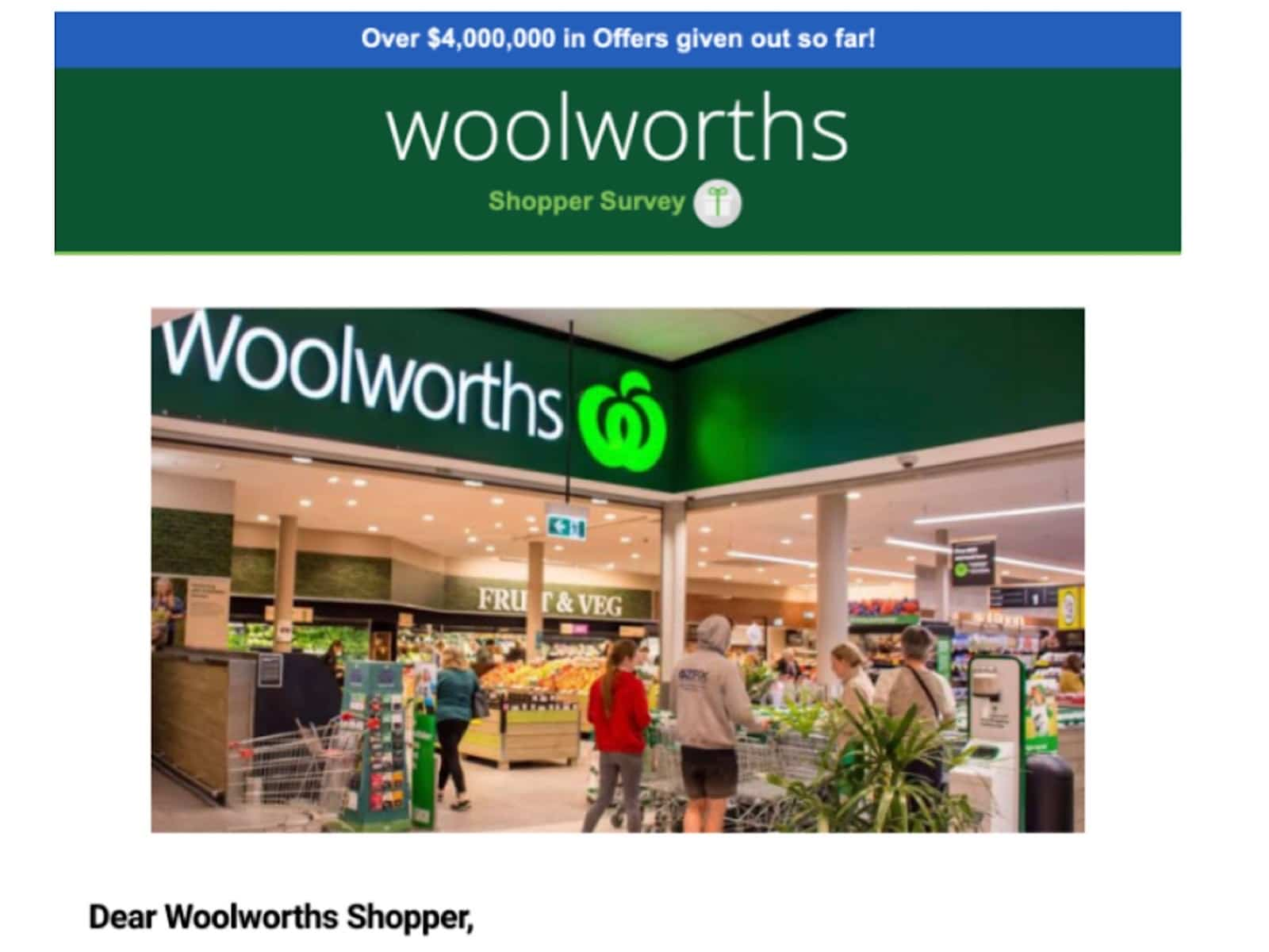 Woolworths scam