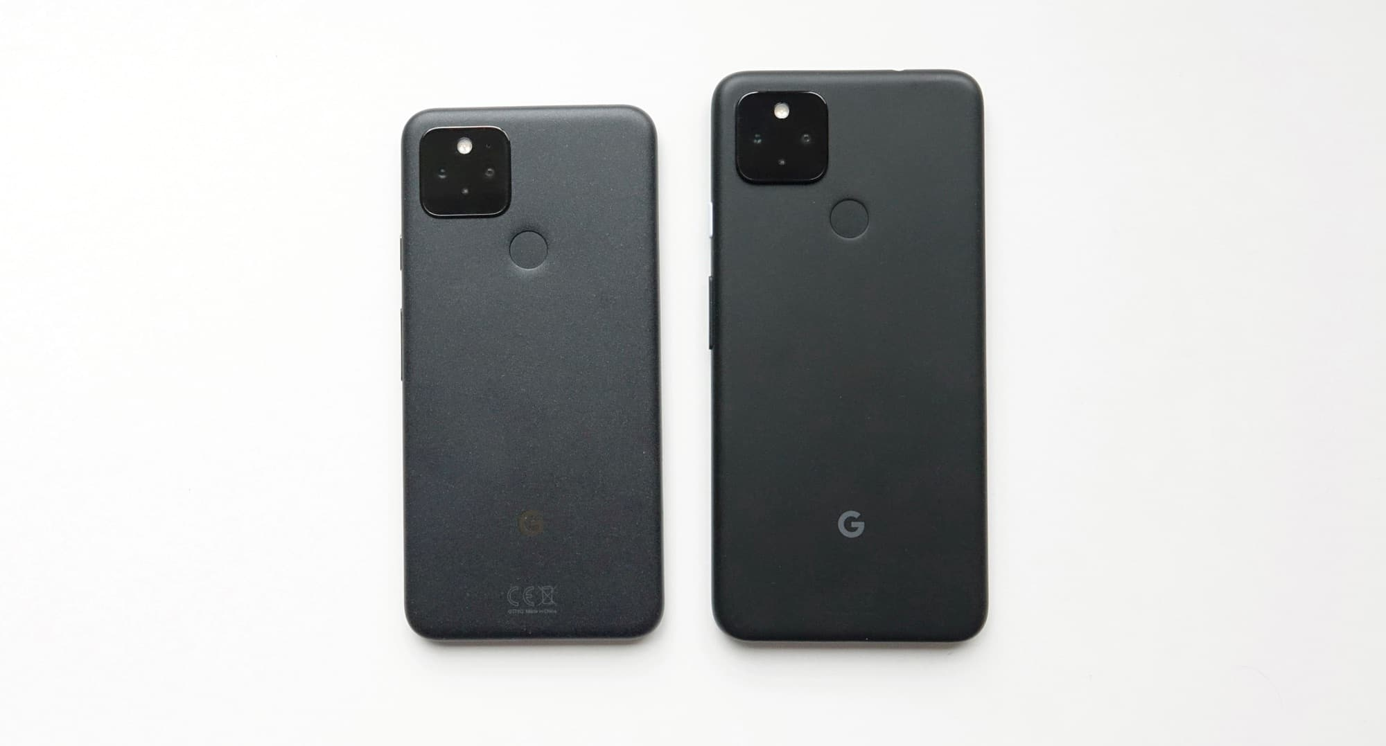 Google Pixel 5 (left) vs Google Pixel 4a with 5G (right)