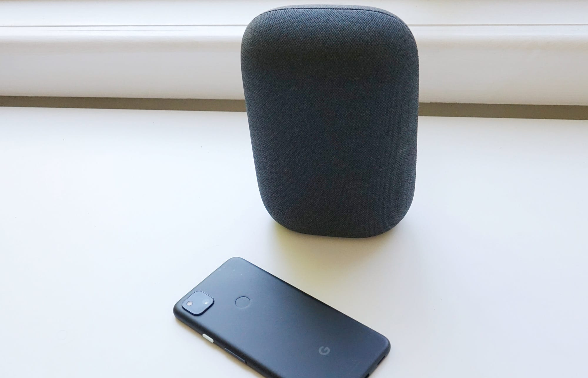 Google Nest Audio with the Google Pixel 4a