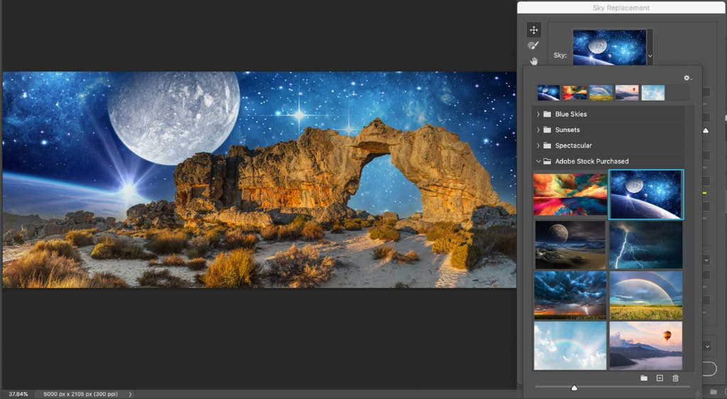 Thinking of replacing the sky in your images? You'll have choices in Photoshop.