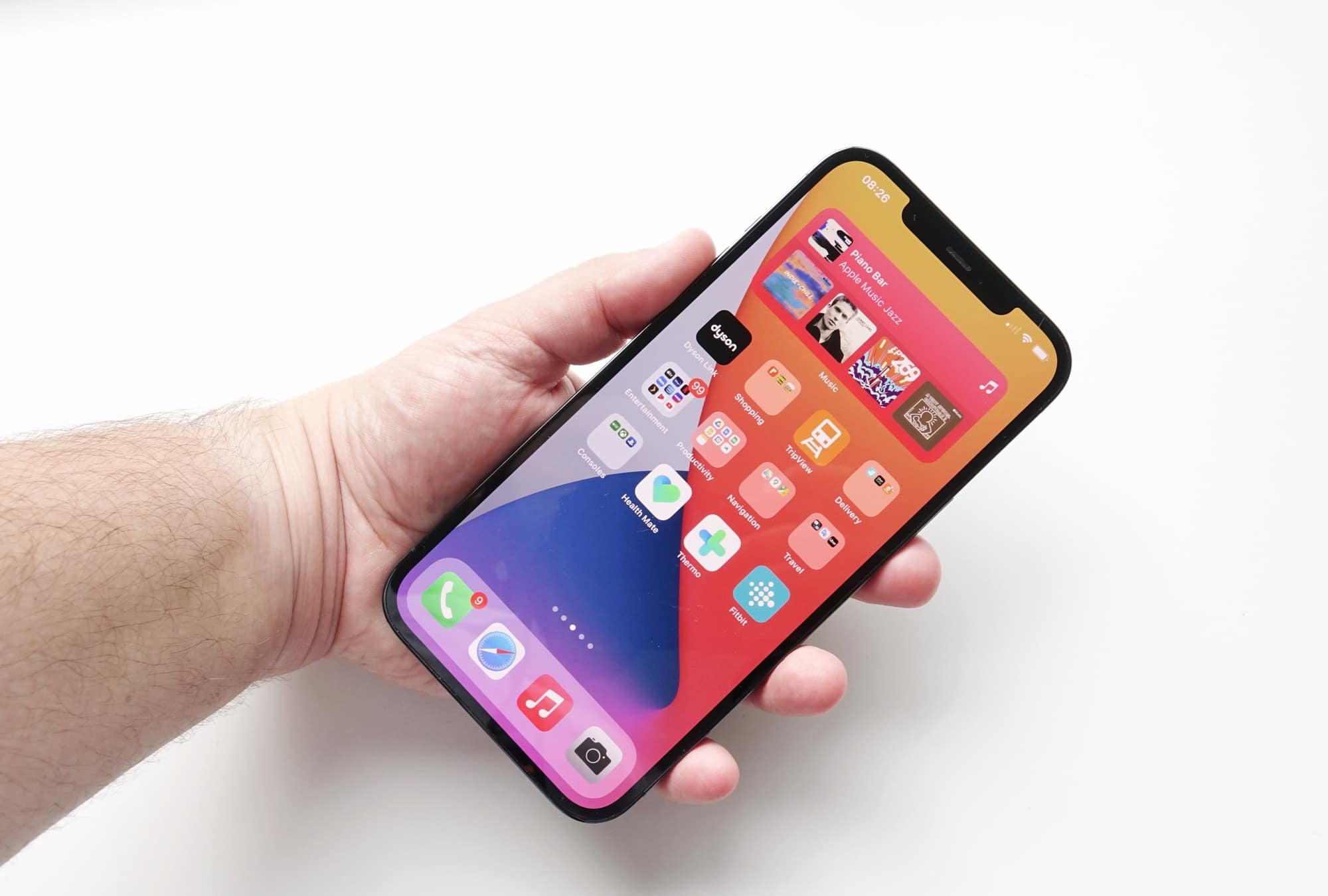 Holding the iPhone 12 Pro Max