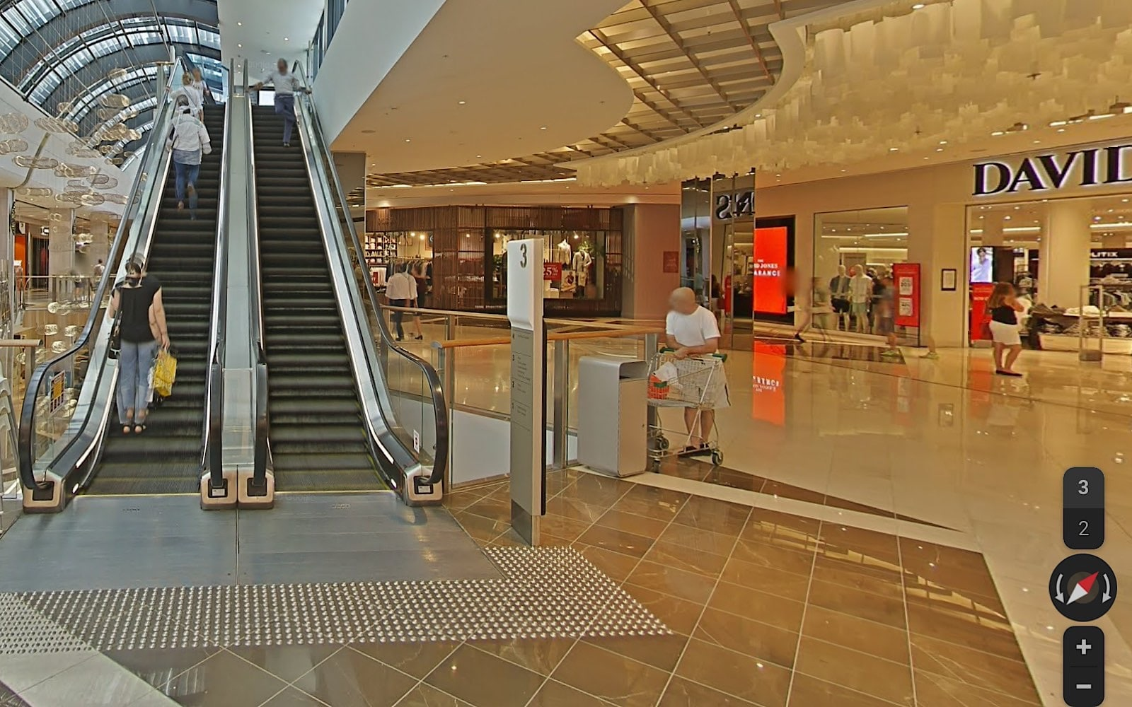 Google Street View in Macquarie Shopping Centre