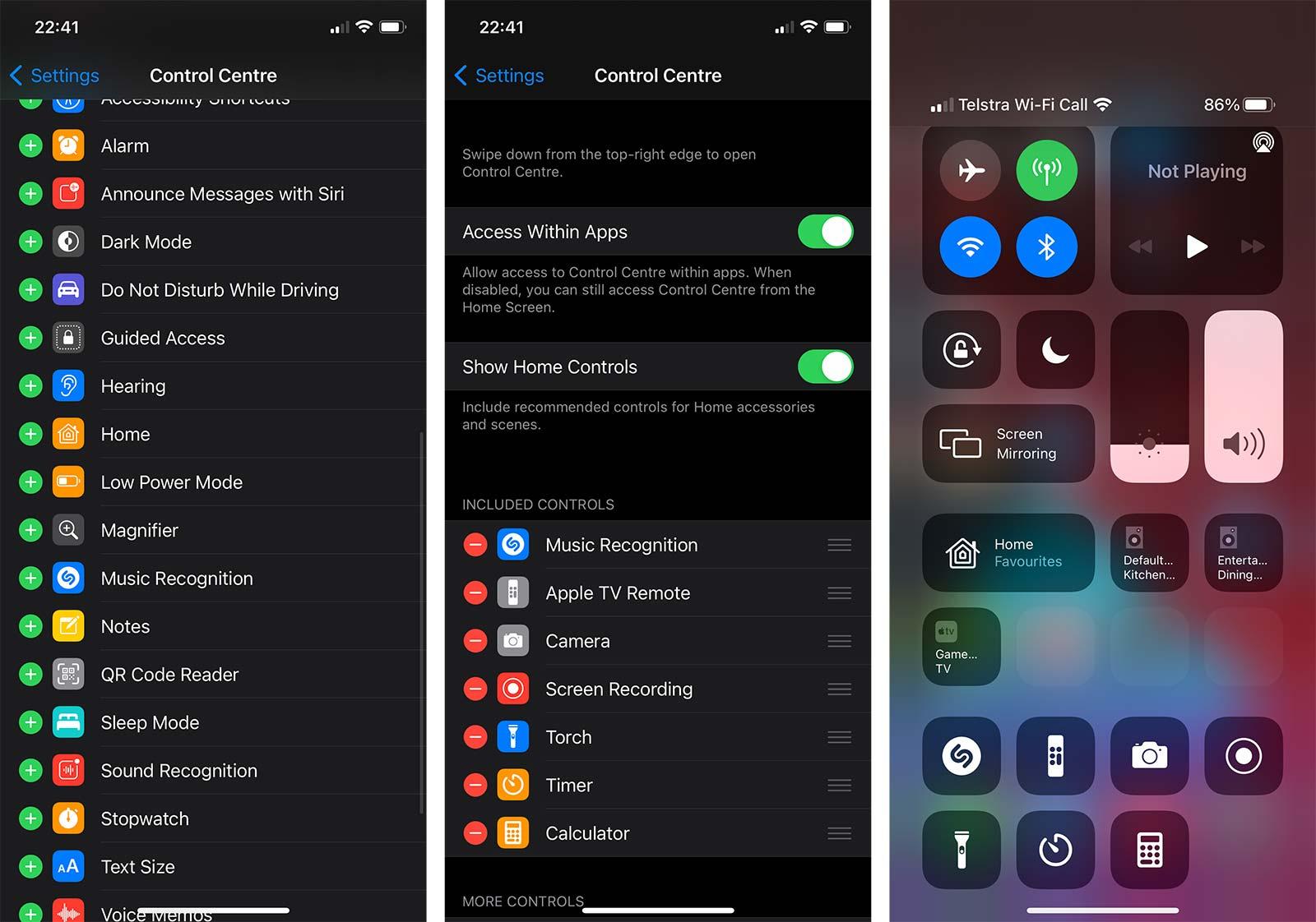 Adding Shazam on iOS 14.2