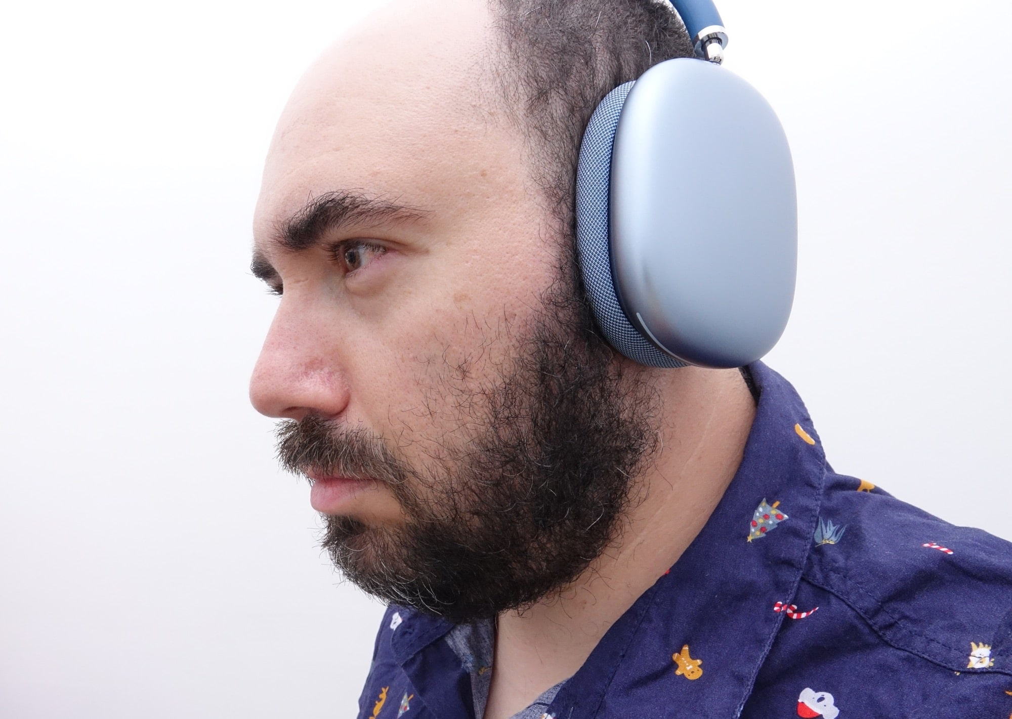 Wearing the AirPods Max