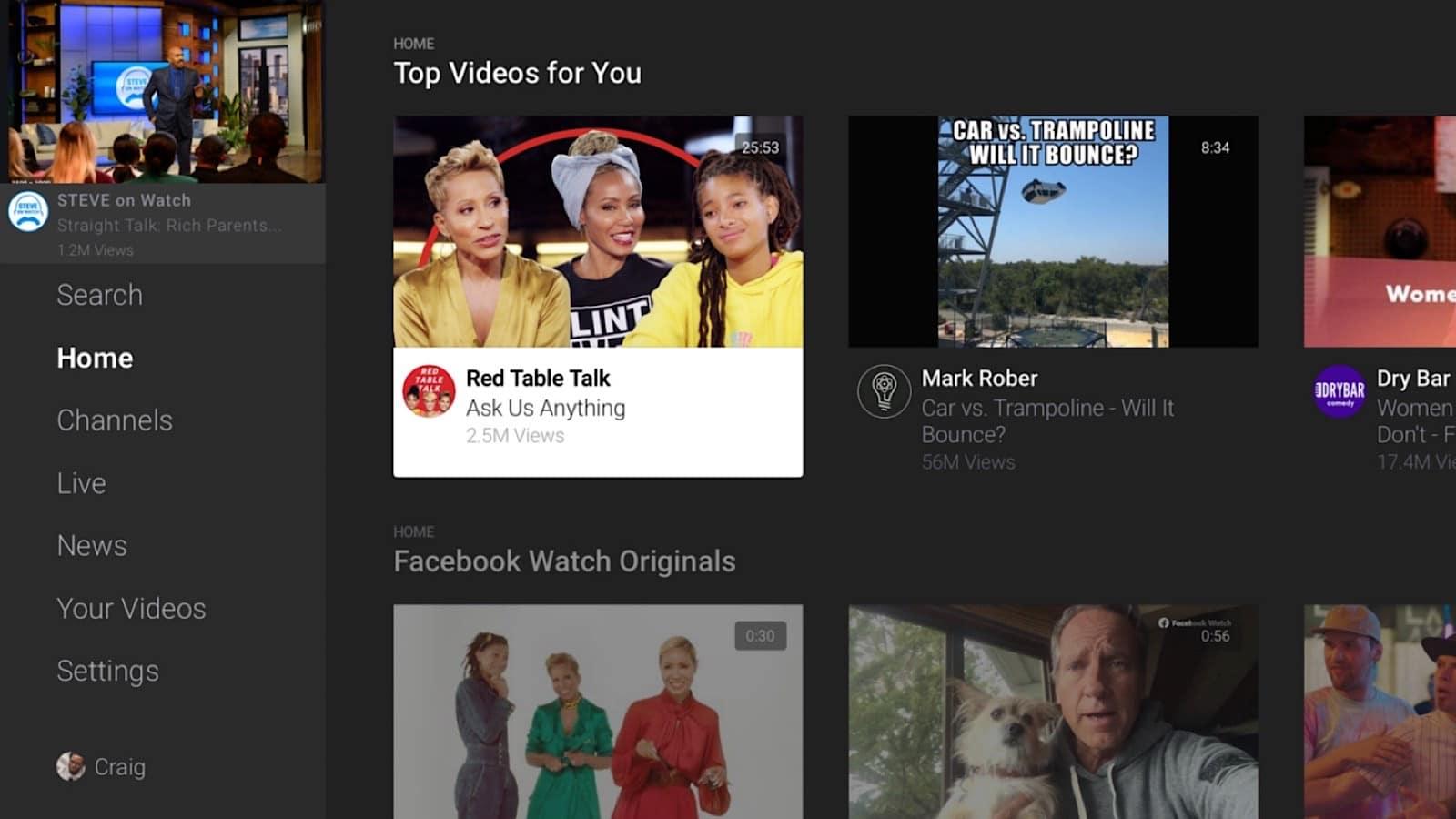 Facebook Watch on LG TVs