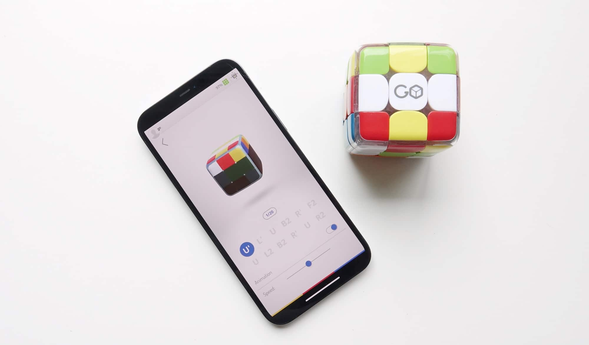 Solving the Rubik's Cube with the GoCube