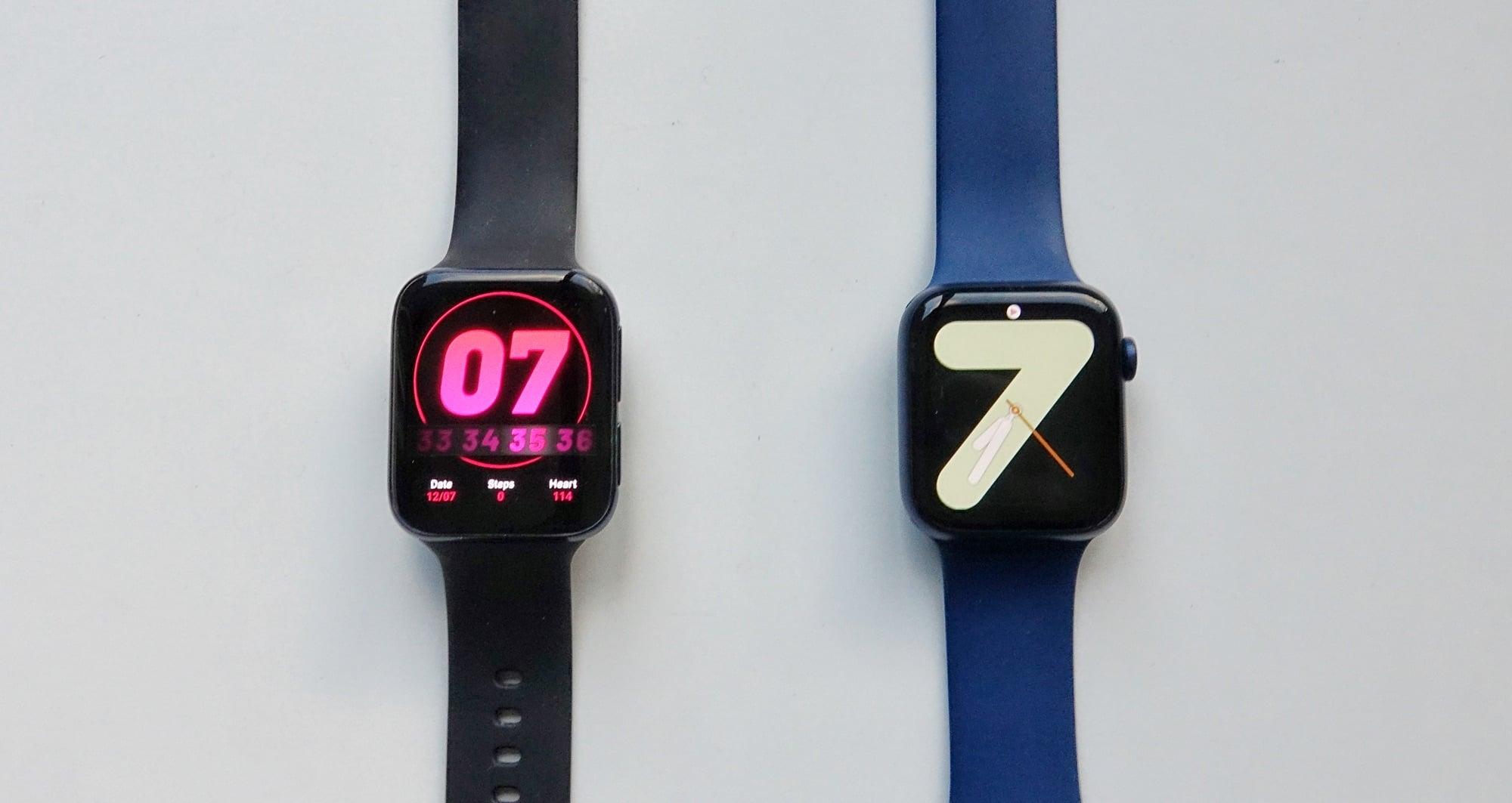 Oppo Watch vs Apple Watch Series 6