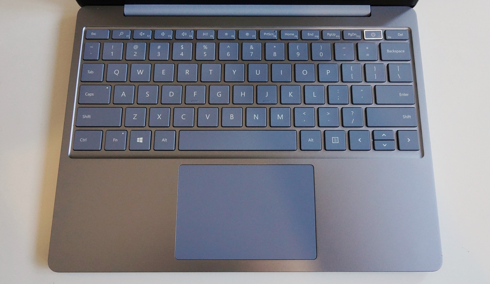 The keyboard of the Surface Laptop Go