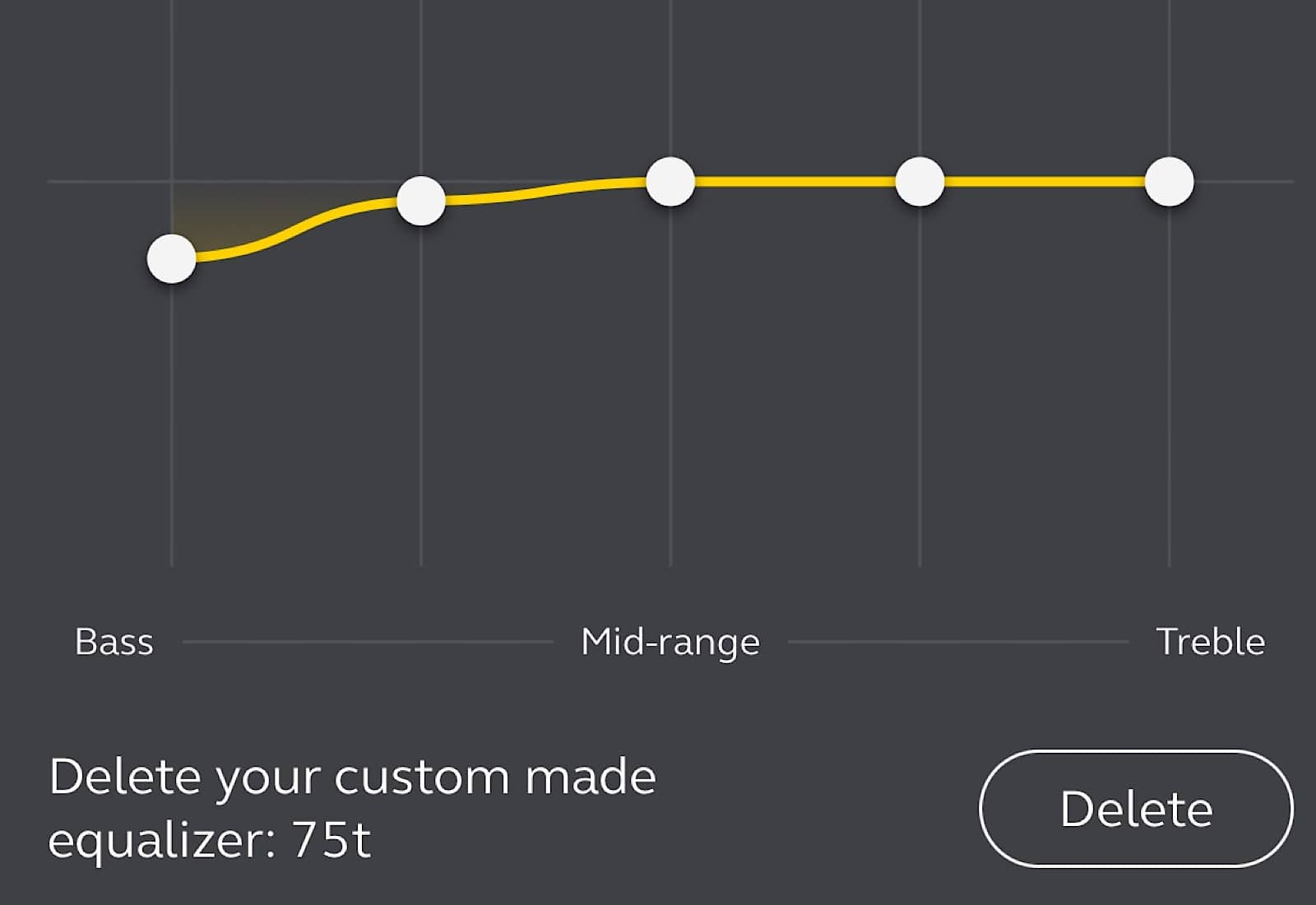Our custom EQ setting managed to get the balance closer to where we think it should have been.