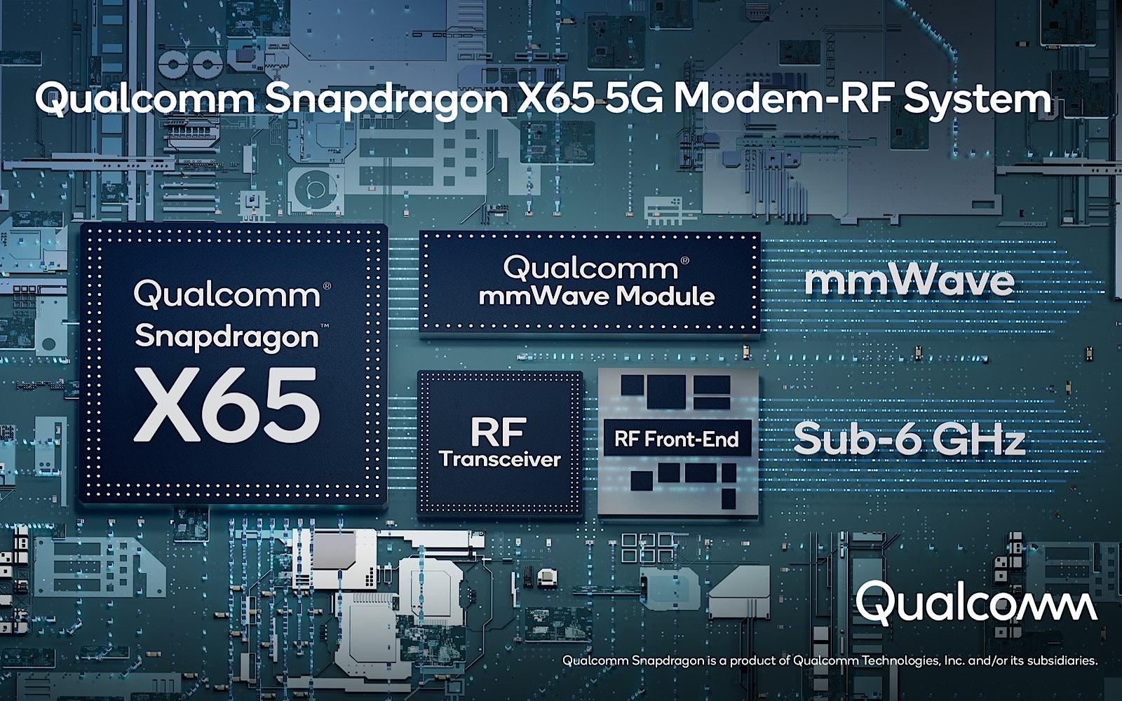 Qualcomm X65 5G 10Gbps chipset