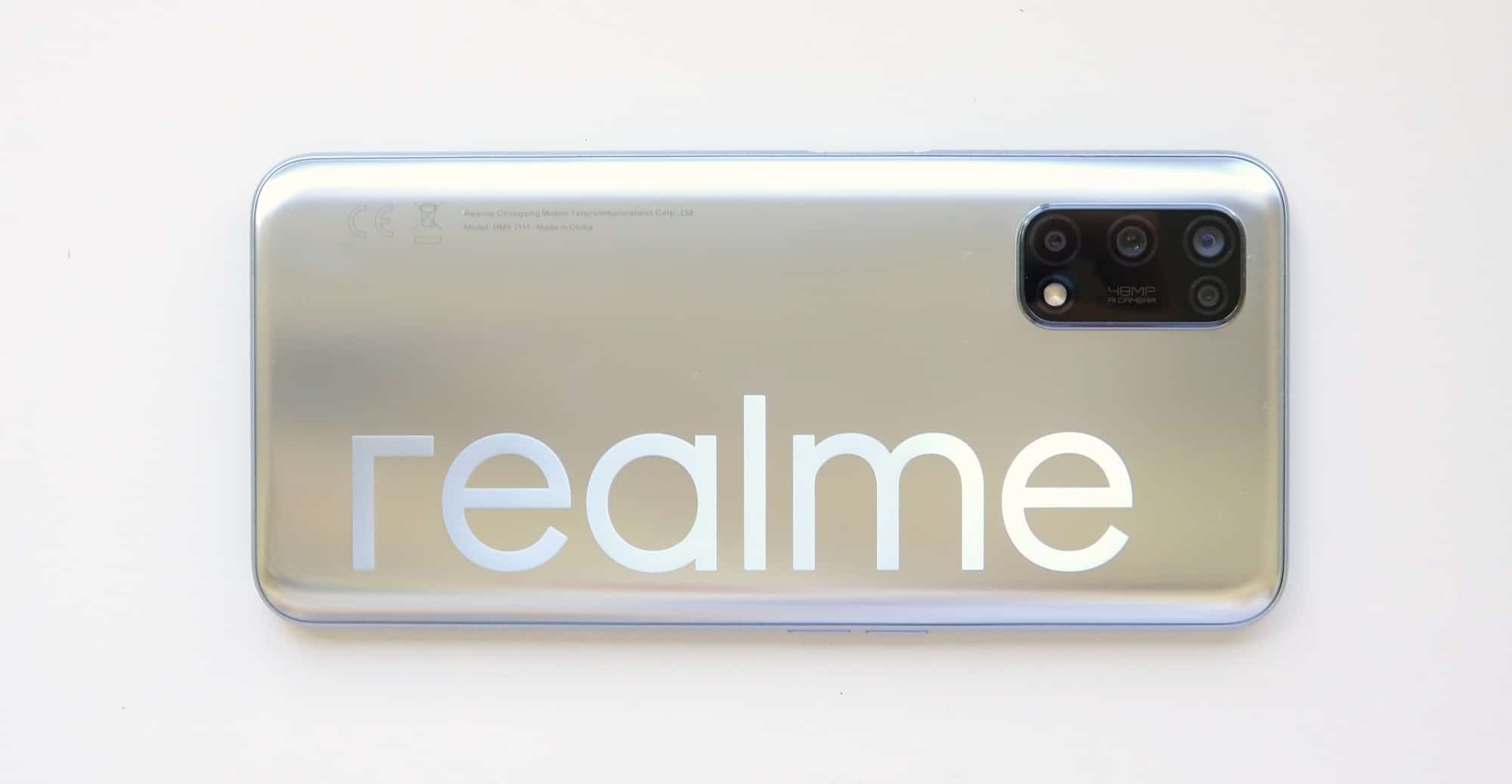 The back of the Realme 7 5G