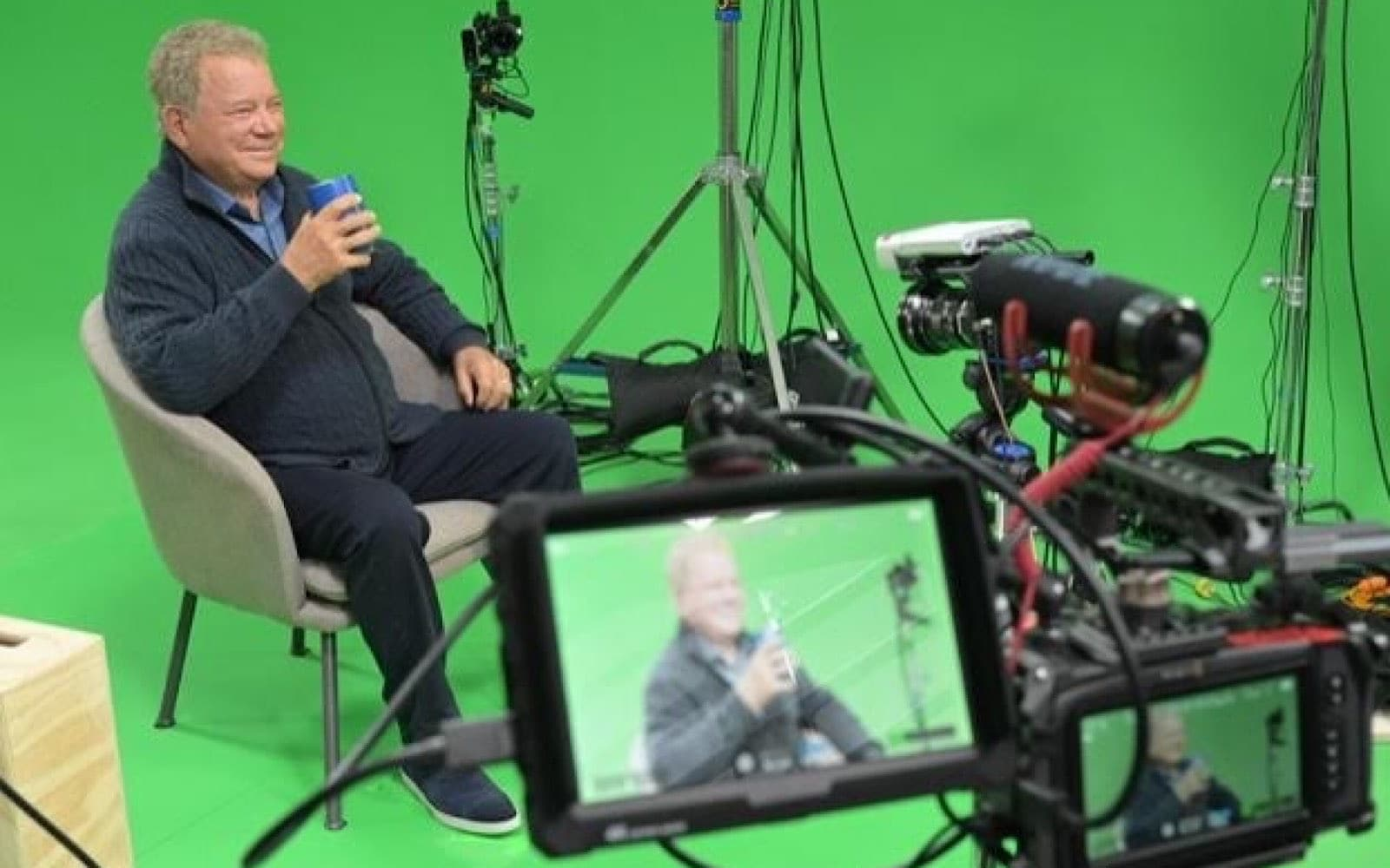 William Shatner recording his StoryFile digital presence.