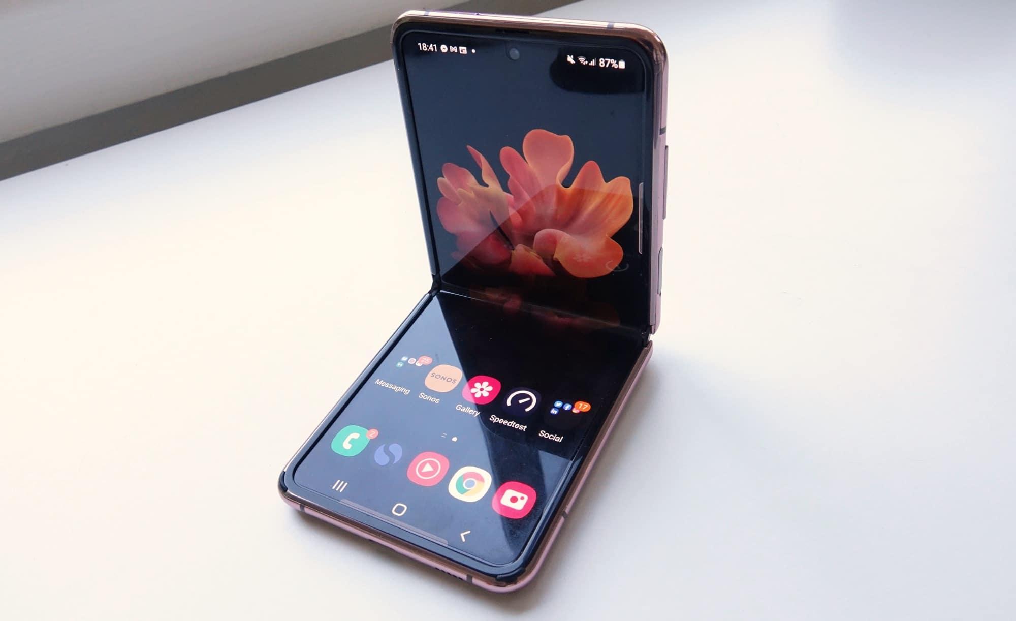 Marvel at the Galaxy Z Flip 5G's form-factor.