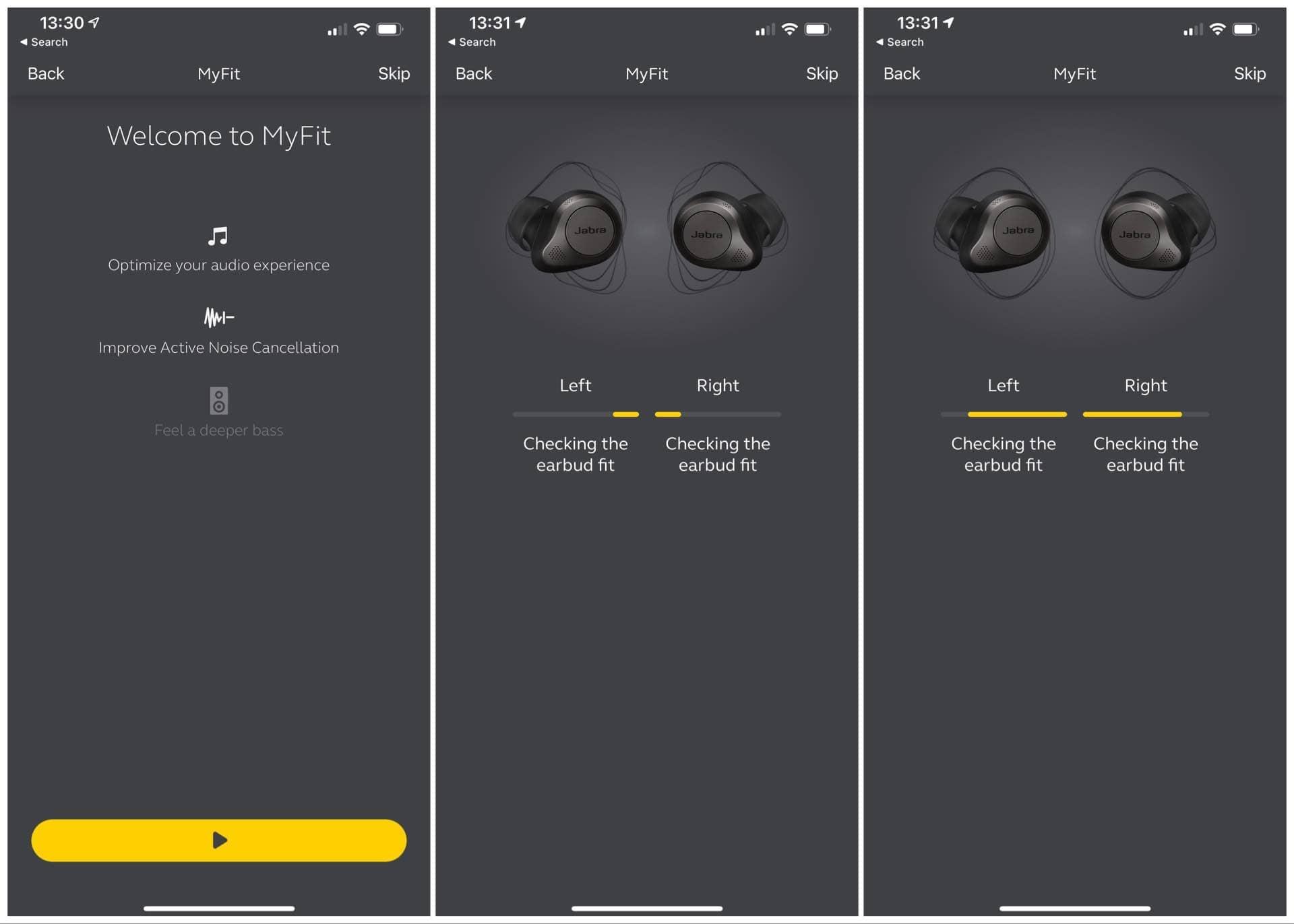 Jabra Sound+ fit test