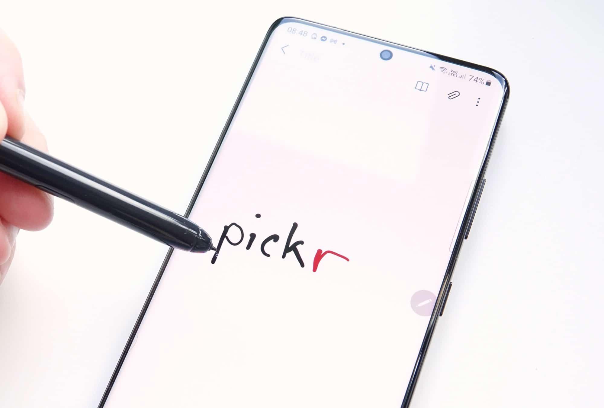 Samsung Galaxy S21 Ultra 5G and an S-Pen