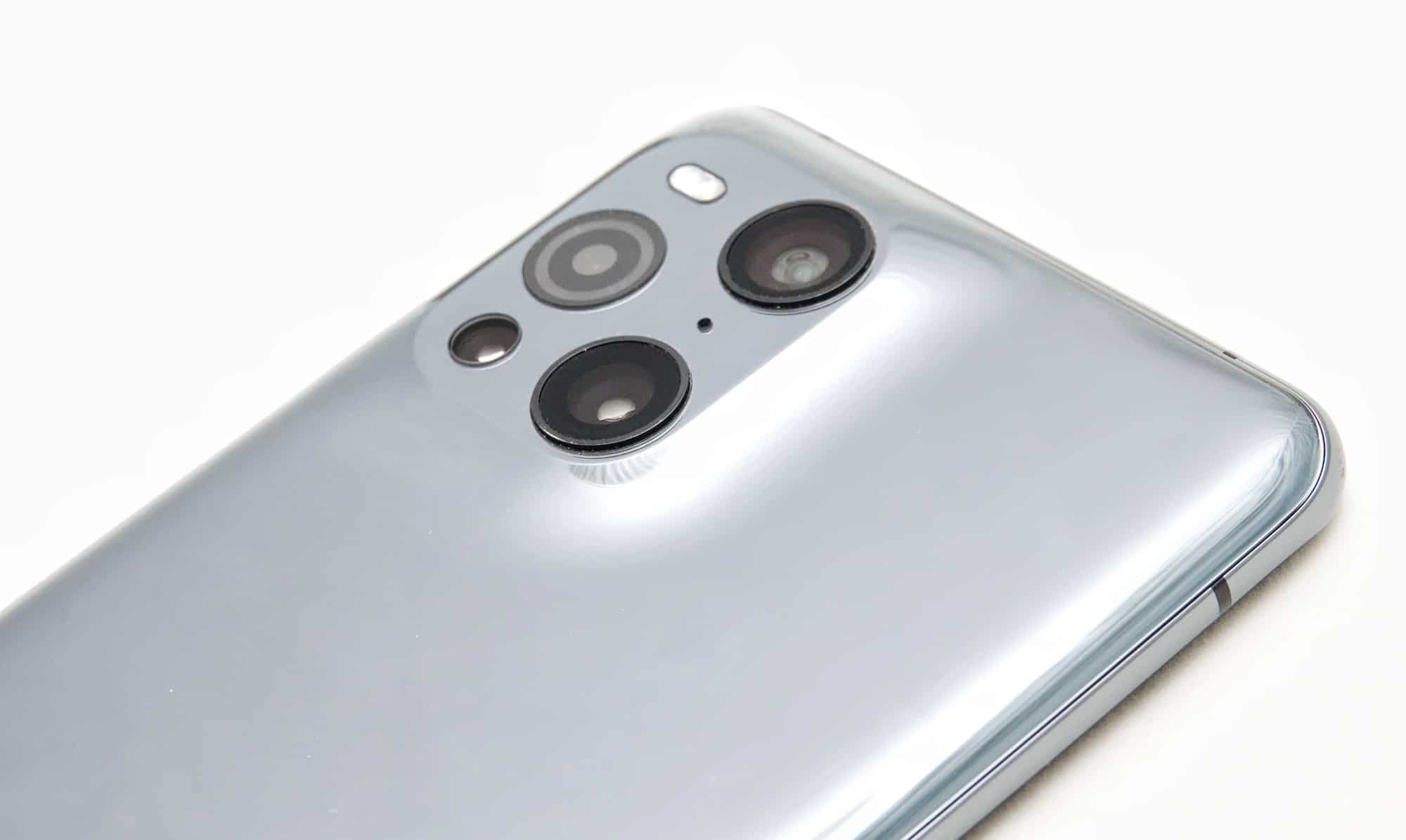 The rear camera system and sleek hump on the Find X3 Pro