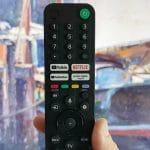 The remote of the Sony Bravia X90J