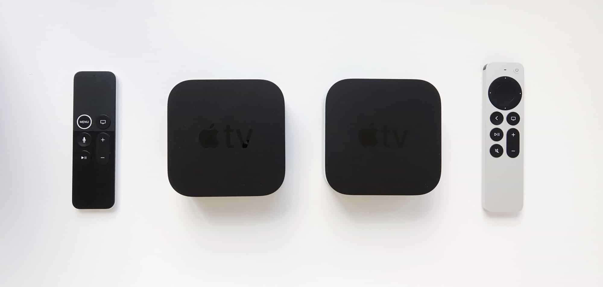 2017 Apple TV 4K (left) vs 2021 Apple TV 4K