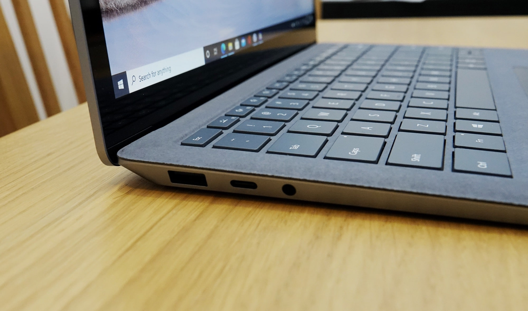 The ports of the Surface Laptop 4