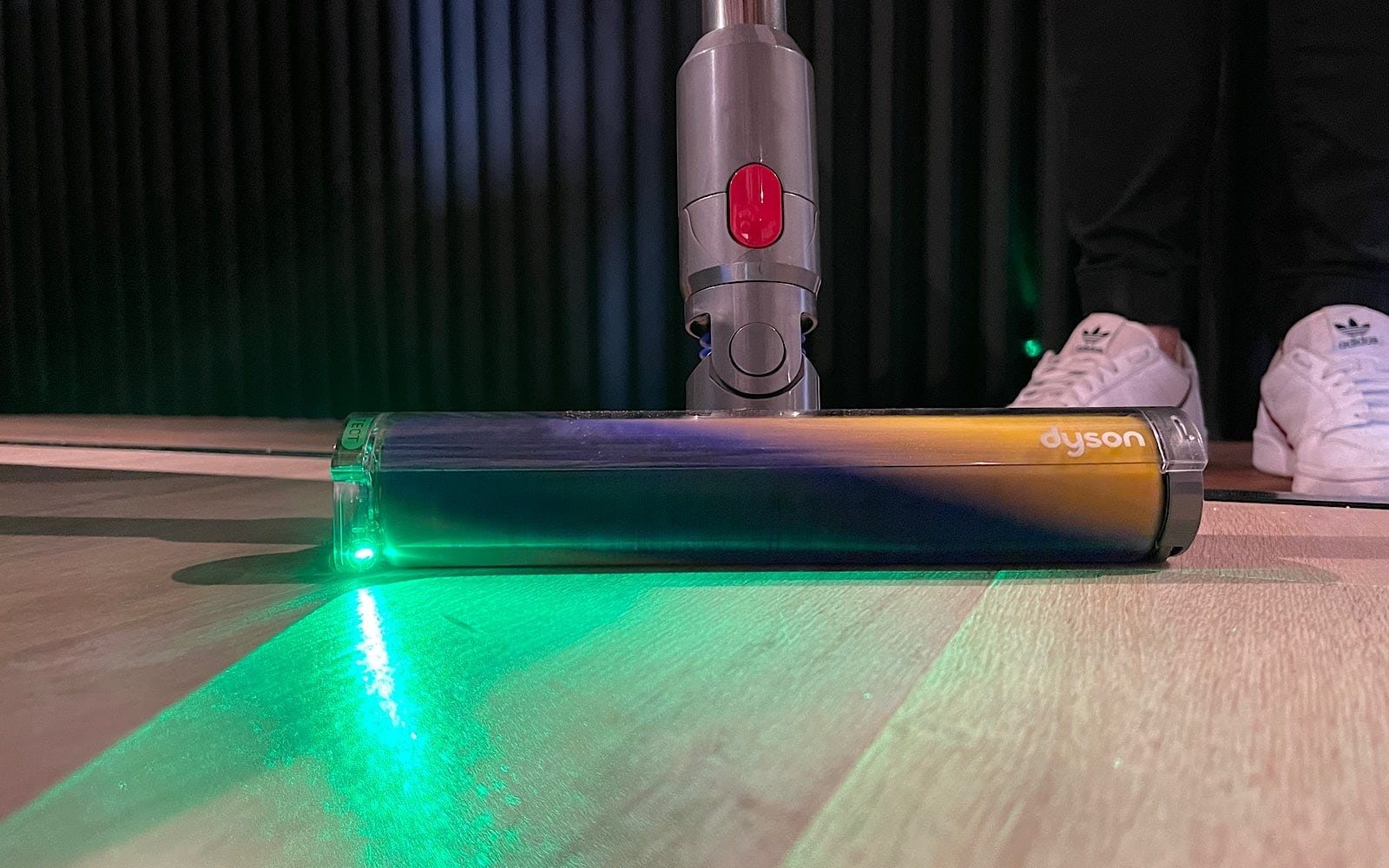 Dyson V15 Detect in action