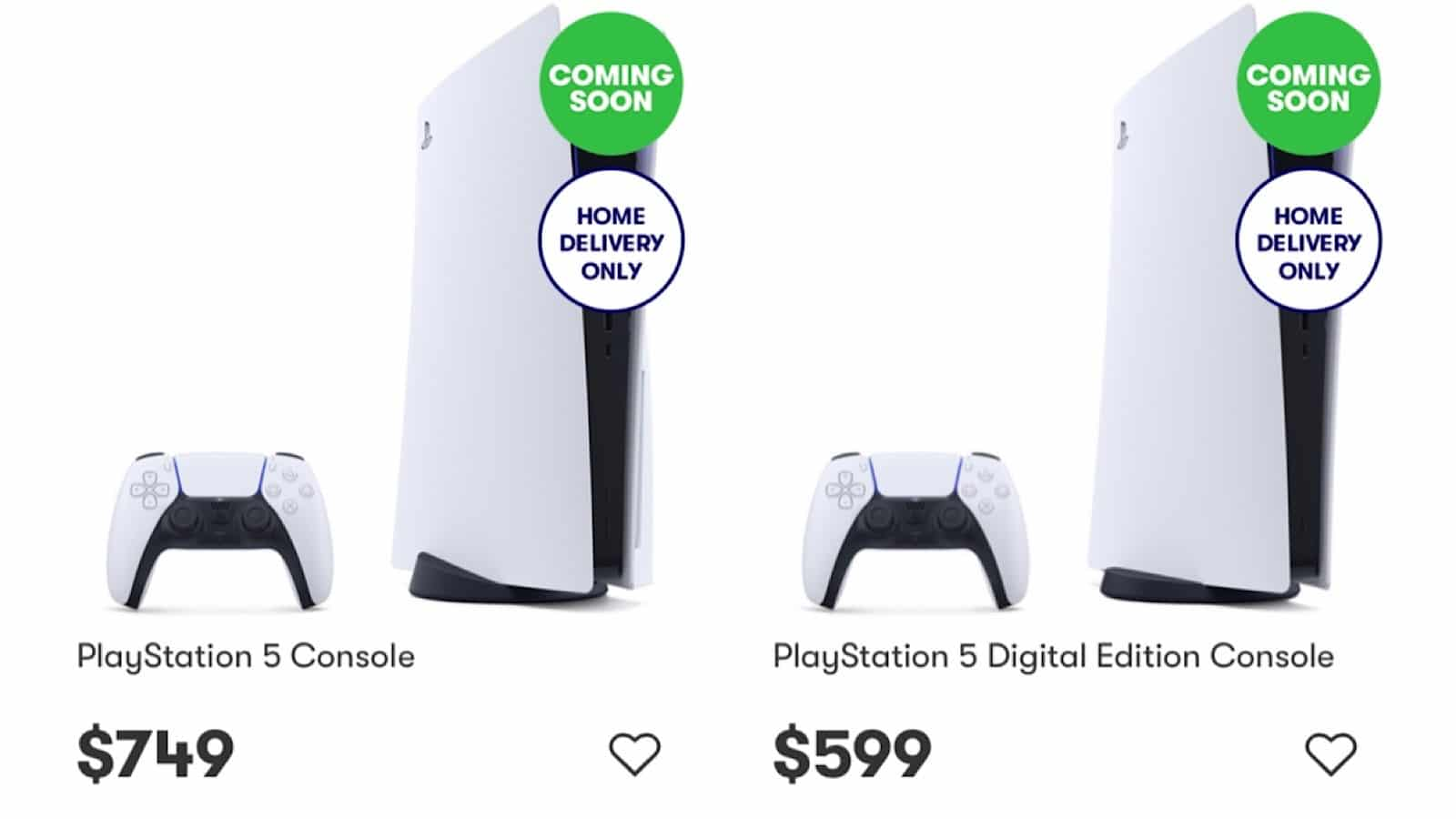 """The released PlayStation 5 is listed in the """"coming soon"""" category of Big W's website. And it's not the only store with that problem."""