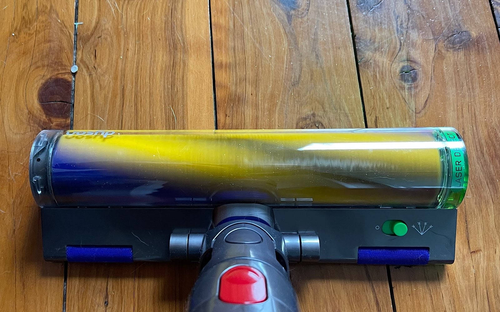 The laser detect head of the Dyson V15 works on other Dyson vacuums, too.
