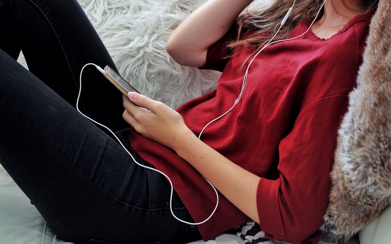 Listening to music on a phone