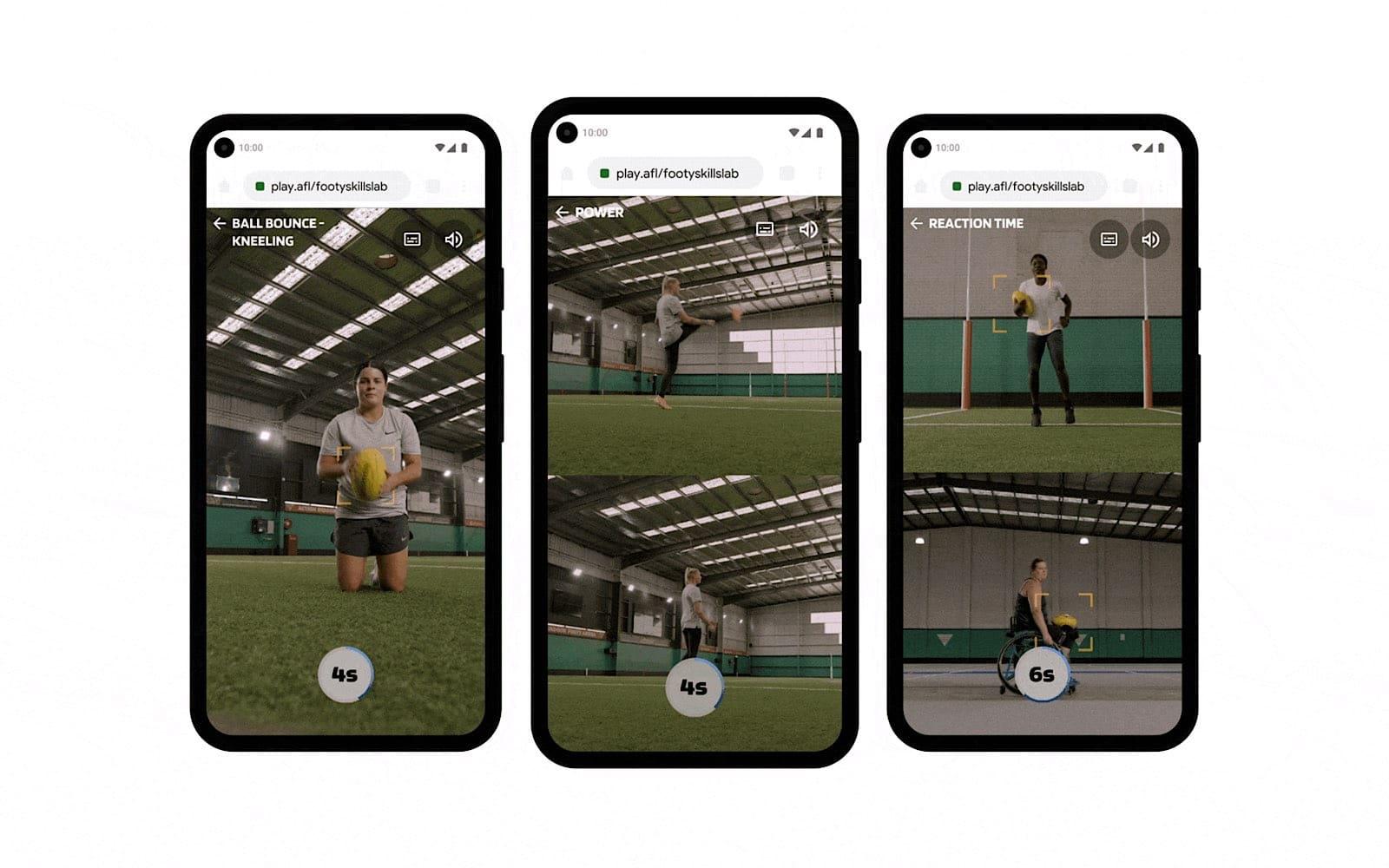 Google teams with AFL for a footy skills web platform