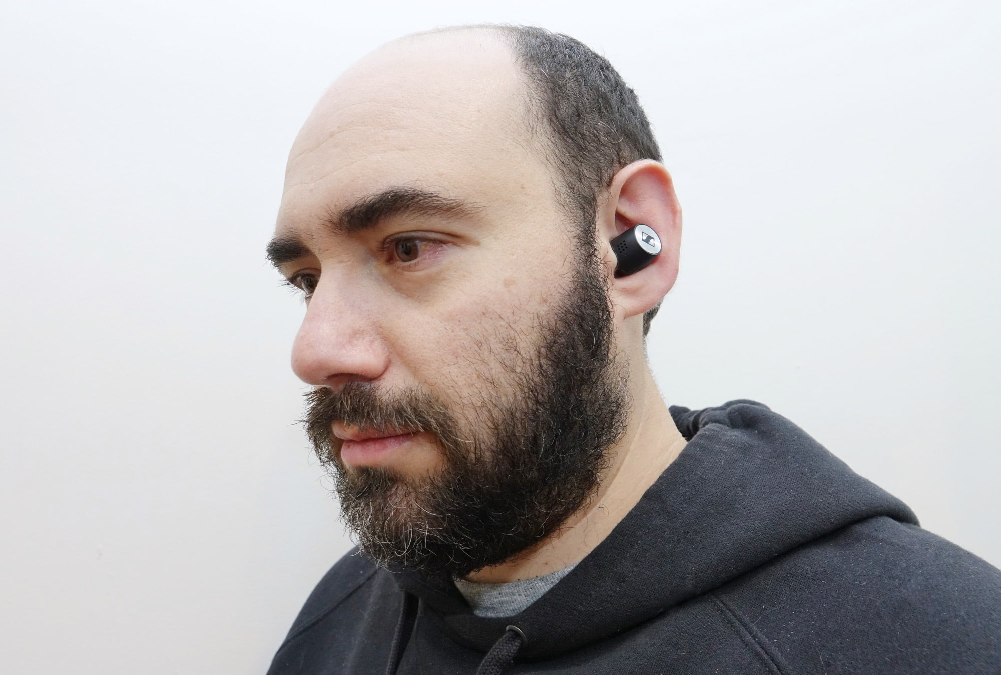 Wearing the Sennheiser Momentum True Wireless 2