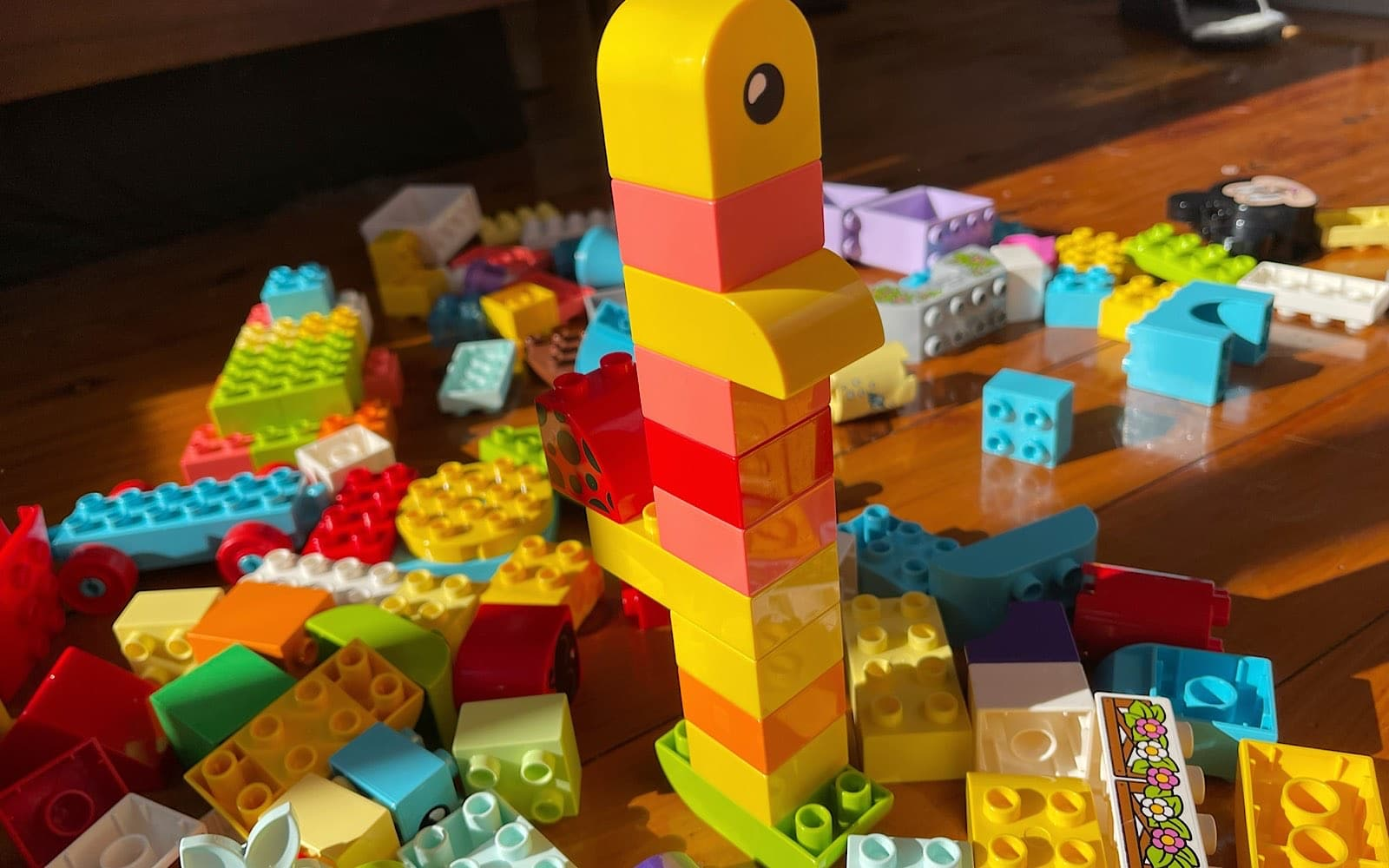 You can make things with Lego and Duplo using Brickit