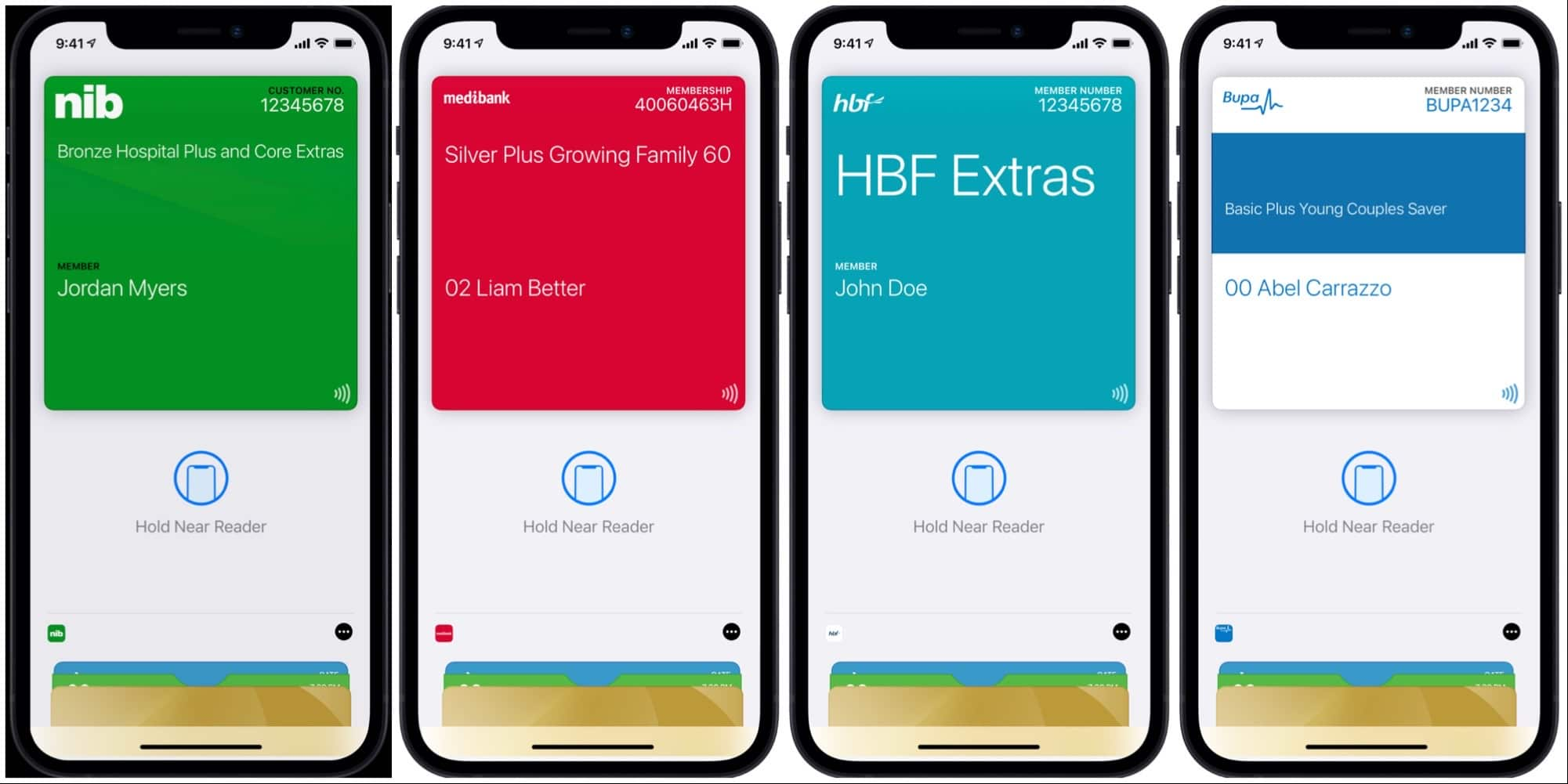 Health insurance cards on the iPhone in Australia