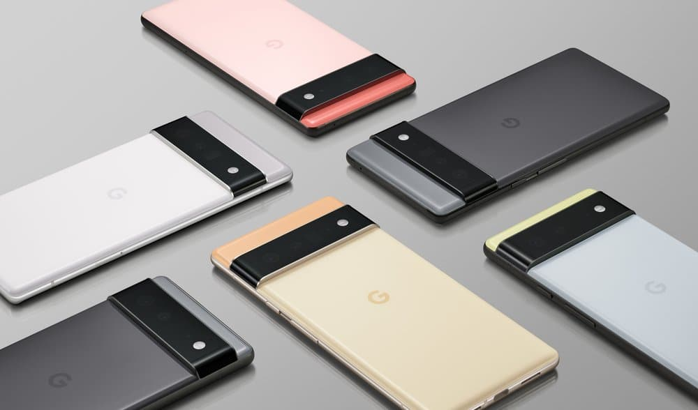 A preview of the Google Pixel 6 line of phones
