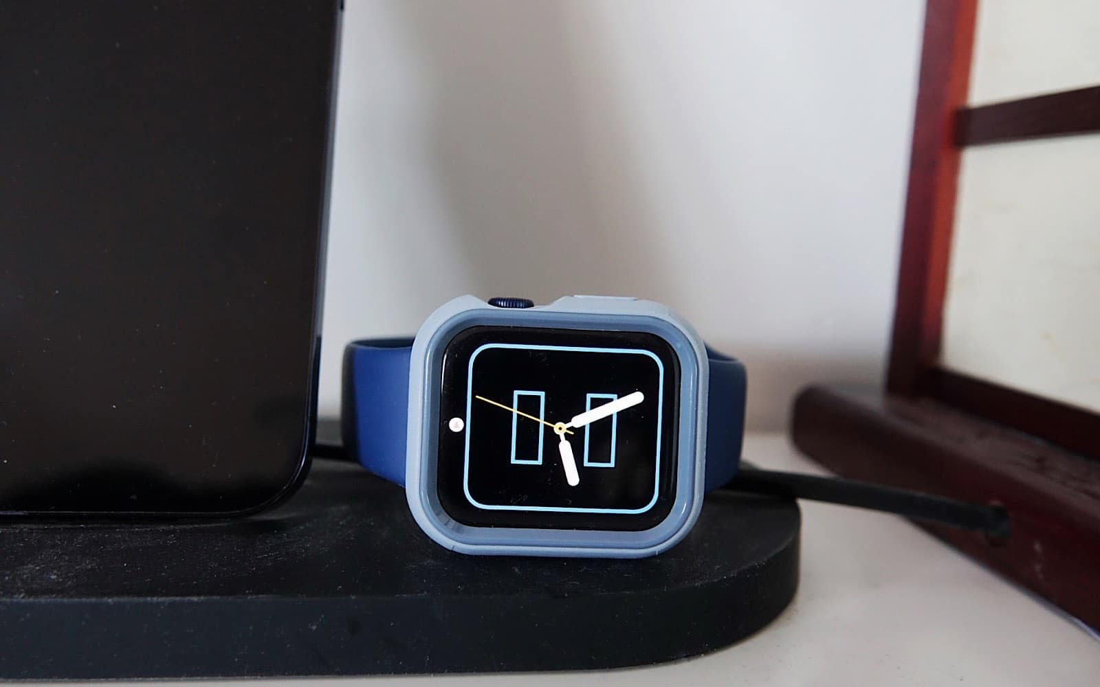 Some stands are not compatible with the Otterbox Exo Edge Apple Watch case.