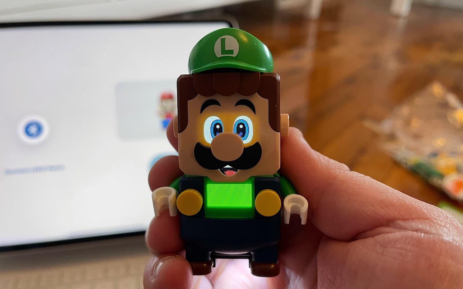 Luigi is both digital and Lego.