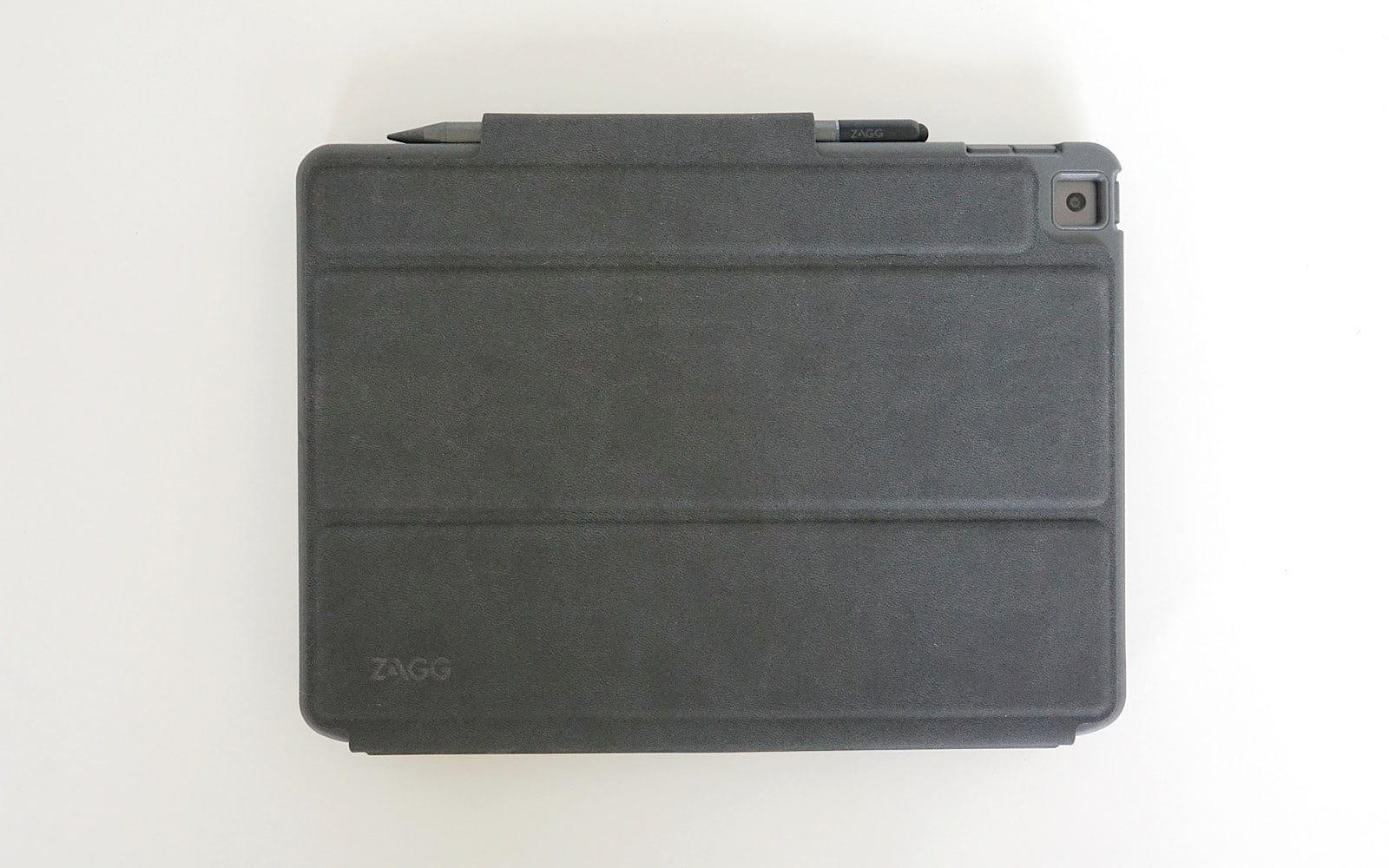 The Zagg Pro Keys folio closed.