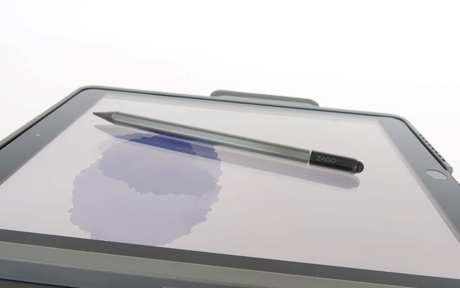 Zagg Pro Stylus on an iPad 10.2 with the Zagg Pro Keys