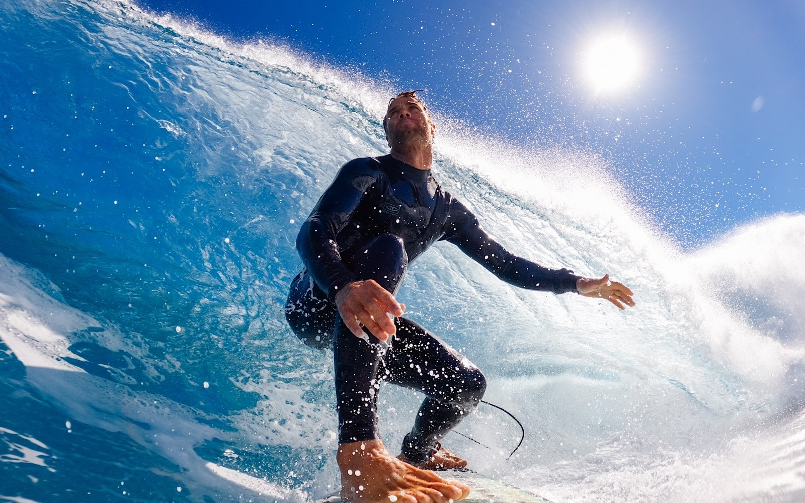 Surfer Anthony Walsh captured by the GoPro Hero 10 Black.