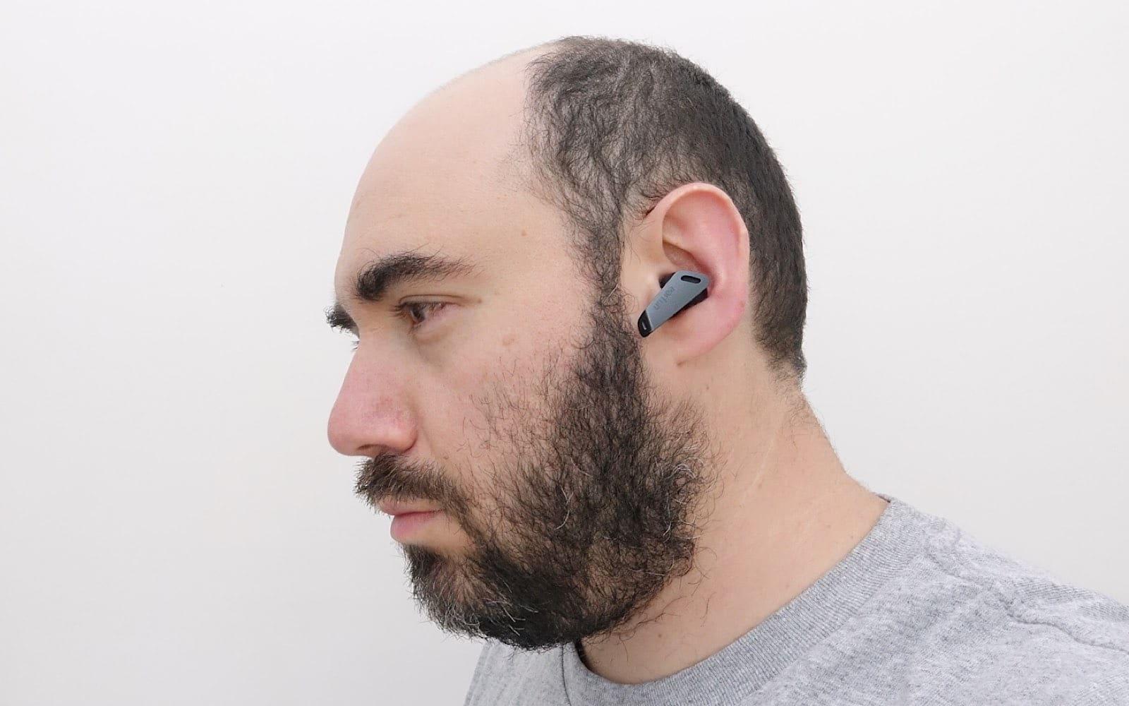 Wearing the EarFun Air Pro