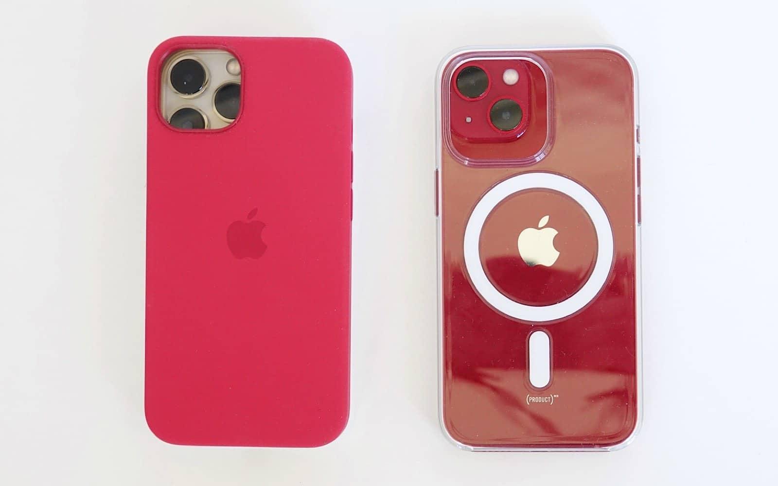 IPhone 13 Pro nu se va potrivi carcasei iPhone 13 (stânga), dar iPhone 13 se va potrivi carcasei iPhone 13 Pro (dreapta).