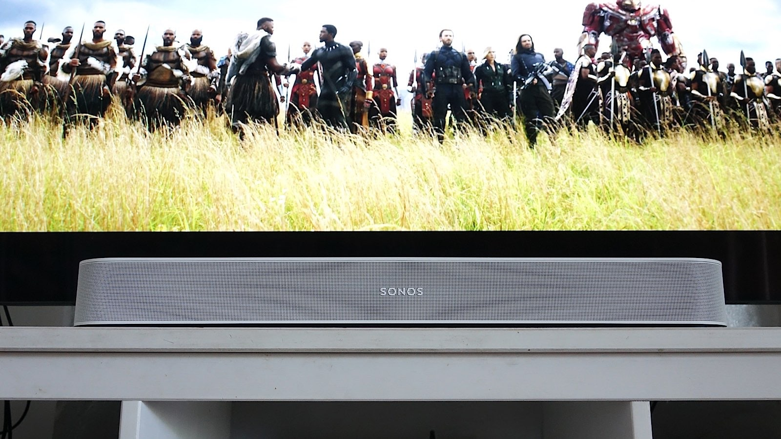 Listening to the 2021 Sonos Beam while watching The Avengers