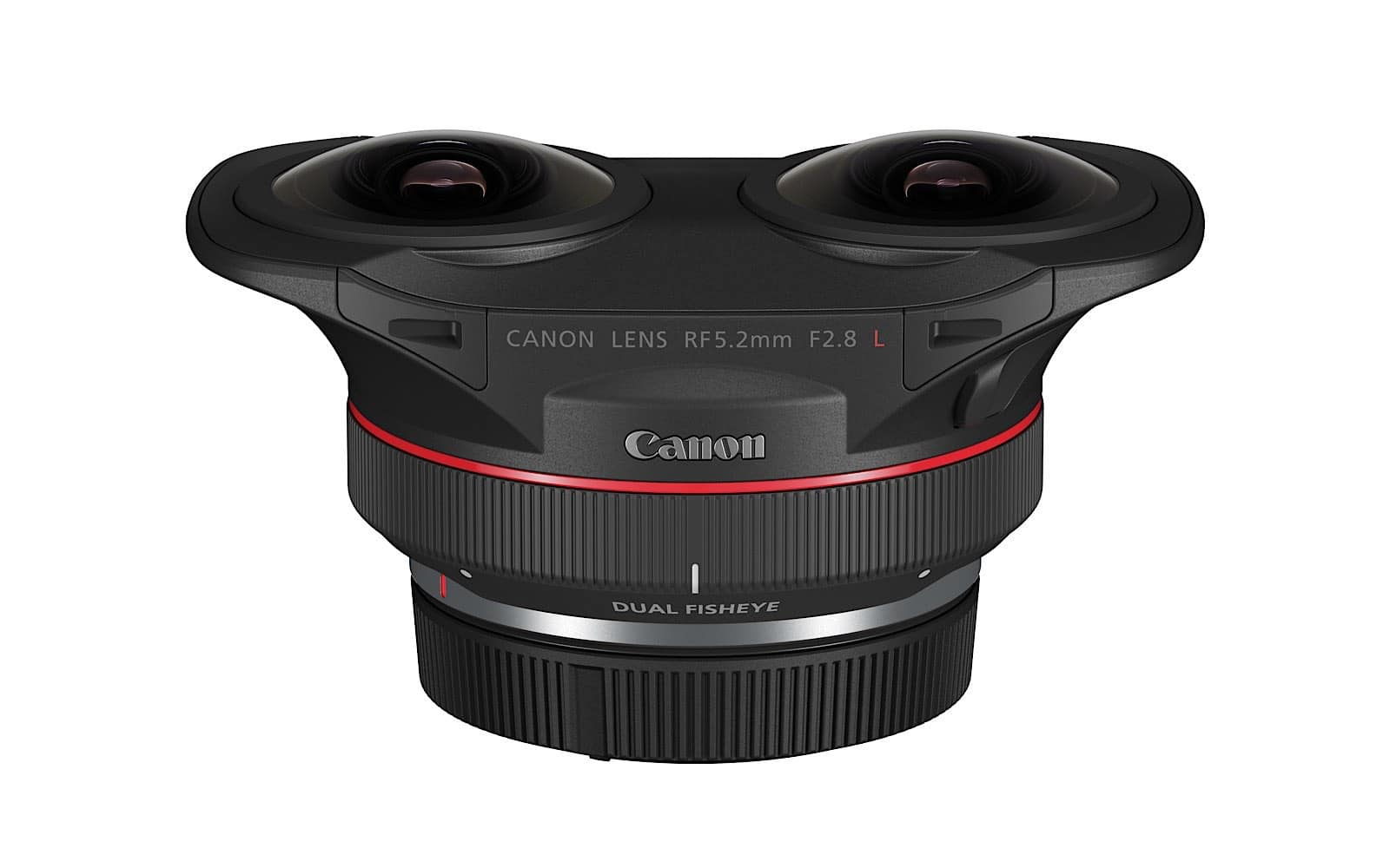 Canon RF 5.2mm F2.8 dual fisheye lens for 3D and VR filmmaking